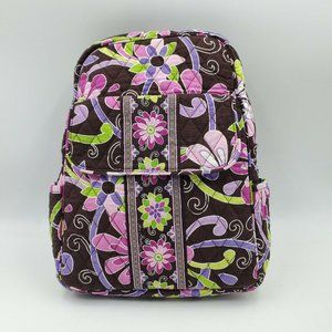 Vera Bradley Mini Backpack Floral Purple Brown